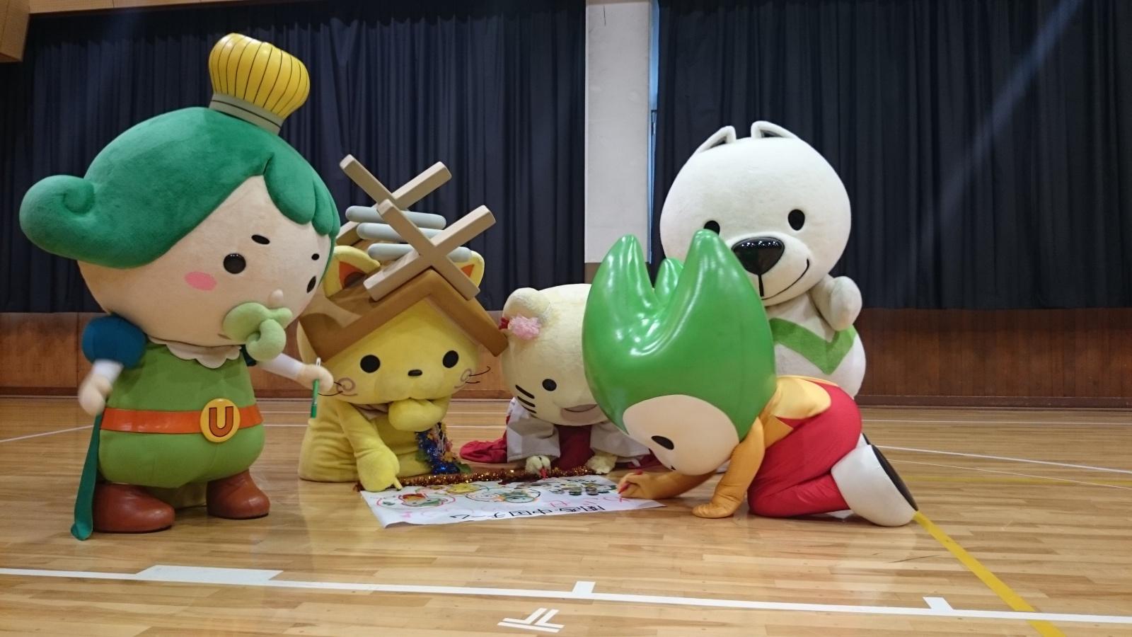 フジテレビ「お台場新大陸」ゆるキャラダンス選手権の練習をしたよ!