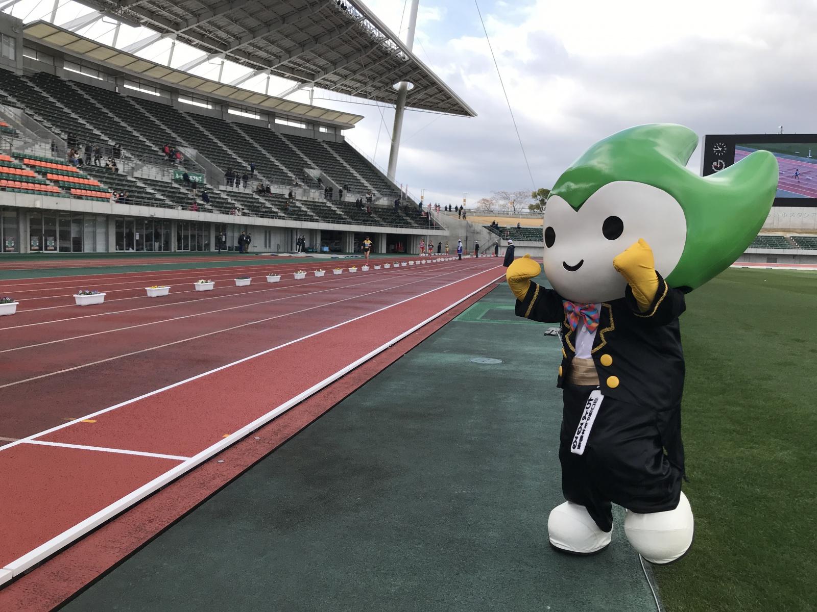 「第48回全日本実業団ハーフマラソン大会」でちょるるの元気を届けたよ☆彡